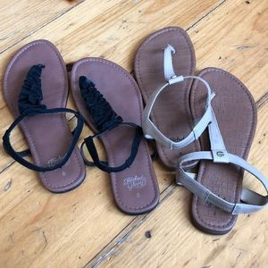 2 pairs of faded glory sandals size 8